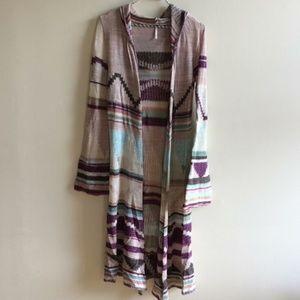 Free People Lima Cardigan Knit Aztec Patterned